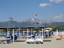 Pláž ve Forte dei Marmi